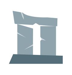 broken pillar vector image vector image