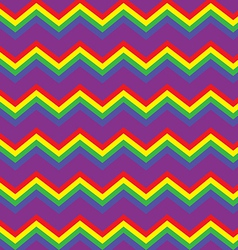 Chevron rainbow background vector image vector image