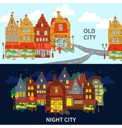 City Banner Set vector image