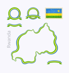 Colors of Rwanda vector image vector image