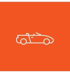 Convertible car line icon vector