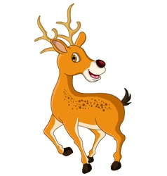 cute deer cartoon posing vector image vector image