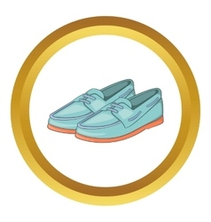 Denim loafers icon vector