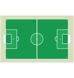 Detailed soccer field vector