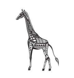 Ethnic ornamented giraffe vector image
