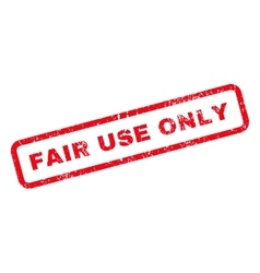 Fair Use Only Text Rubber Stamp vector image vector image