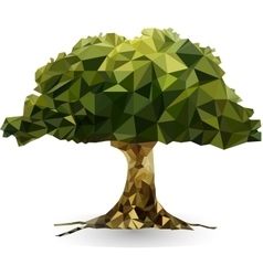green tree in a triangular style vector image