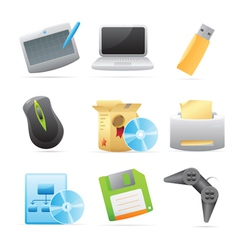 Icons for computer vector image vector image