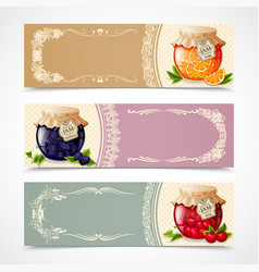 Jam banners set vector