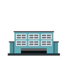 manufacturing factory building icon flat style vector image