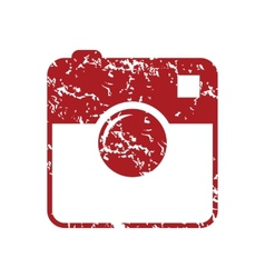 New red grunge camera logo vector image