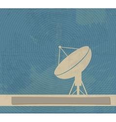 Satellite Dish Retro poster vector image vector image