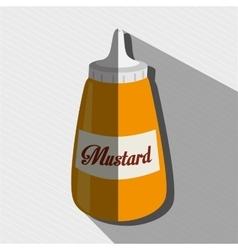 sauce bottle design vector image vector image