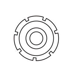 Sketch silhouette gear wheel icon vector