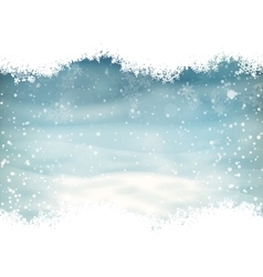 Snow landscape background EPS 10 vector image