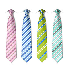 Striped silk ties vector image