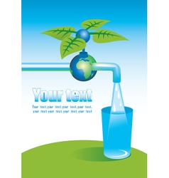 Tap with clean water vector