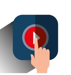 video movie play vector image