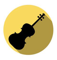 violine sign flat black icon vector image