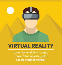 virtual reality new technologies and on line vector image vector image