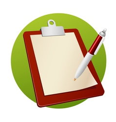 writing board vector image vector image
