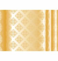 yellow silk vector image vector image