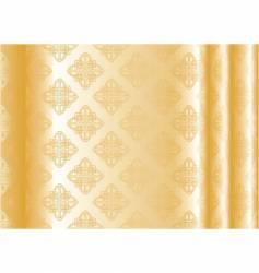 Yellow silk vector