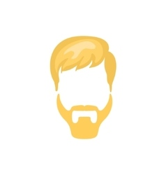 Hipster Male Hair and Facial Style With Ducktail vector image