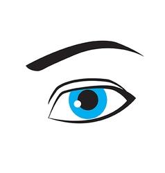 Beautiful blue eye vector