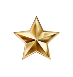Hand drawing gold star with five rays elegant vector