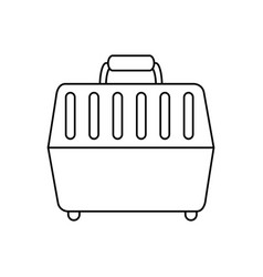 Pet carrier box icon vector