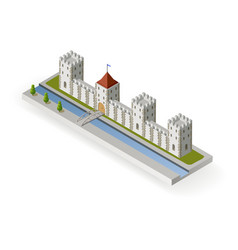 Isometric medieval castle vector
