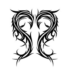 abstract hand drawn tribal tattoo vector image
