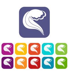 Ocean or sea wave icons set vector