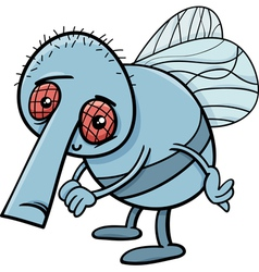 Fun fly cartoon vector