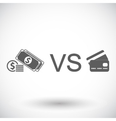 Cash vs card vector