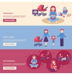 Motherhood banner set vector