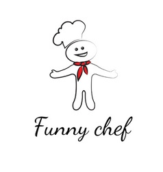 Funny chef symbols vector