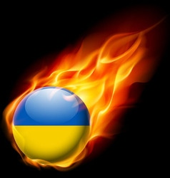 Round glossy icon of ukraine vector