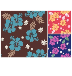 Seamless flower summer fabric pattern vector
