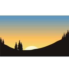 Landscape at morning on the hills vector