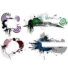 Grunge designs vector