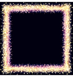 Bright frame with sparkles and flares vector