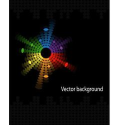 Abstract music volume equalizer on black backgroun vector
