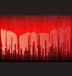 blood city grunge vector image
