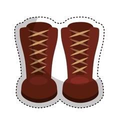 Boots fashion style icon vector