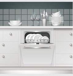 Build-in dishwasher vector