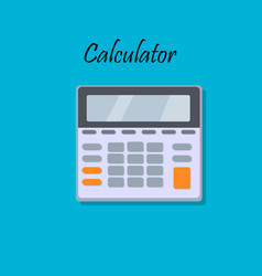 cartoon of calculator vector image
