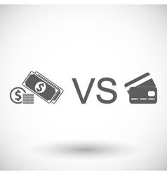 Cash vs card vector