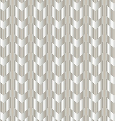 Chevron shiny silver background vector image